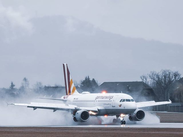 Germanwings Airbus A319 slowing down on a wet runway at Salzburg Airport. I think this is one of my favorite shots of my Salzburg Trip this winter. What do you think? ▪▪▪▪▪▪▪▪▪▪▪▪▪▪▪▪▪▪▪▪▪▪▪▪▪▪▪▪▪▪▪▪▪▪▪▪▪▪▪▪▪▪▪▪ ➡Information about the aircraft : ...